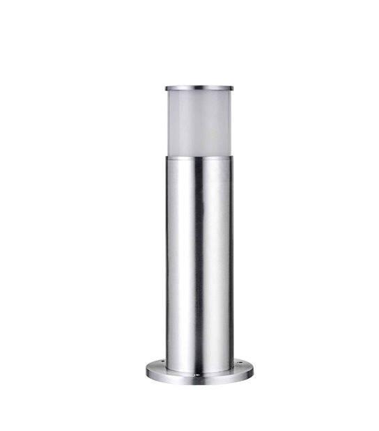 Balise Inox cylindrique H45cm BOLLARDS E27 IP44 éxterieur EASY CONNECT ampoule fournie - BORNES EASY CONNECT - siageo-led.com