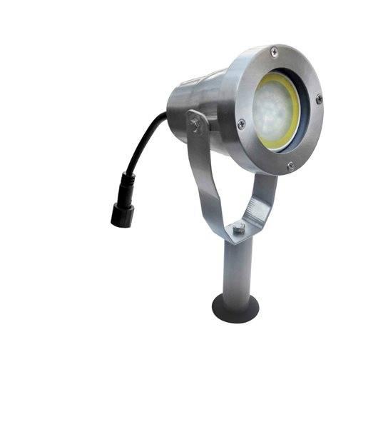 Spot projecteur à Piquer ou visser Alu Brossé AVANT-GARDE GU10 MR16 ou MR20 IP67 extérieur EASY CONNECT ampoule fournie - PROJECTEUR JARDIN - siageo-led.com