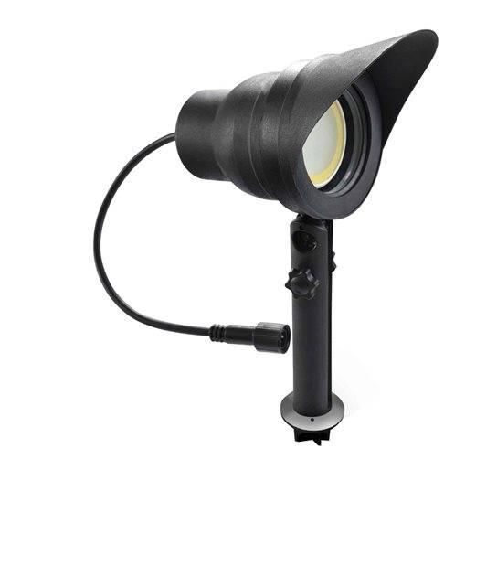 Spot projecteur à Piquer ou visser Noir AVANT-GARDE GU10 MR16 ou MR20 IP67 extérieur EASY CONNECT ampoule fournie - PROJECTEUR JARDIN - siageo-led.com