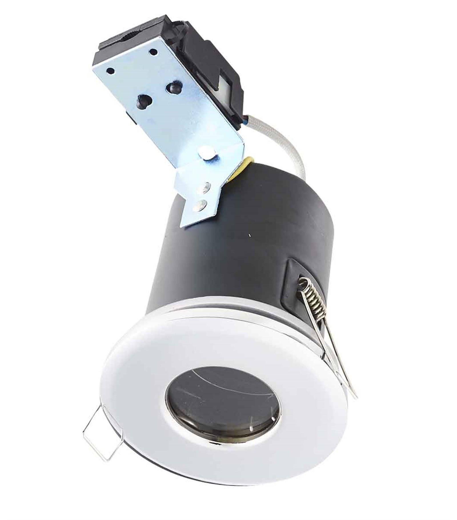 Spot faux plafond isol et cache moineaux chrome bastia gu10 ip65 ext rieur hipow etanche - Spot salle de bain etanche ip65 ...