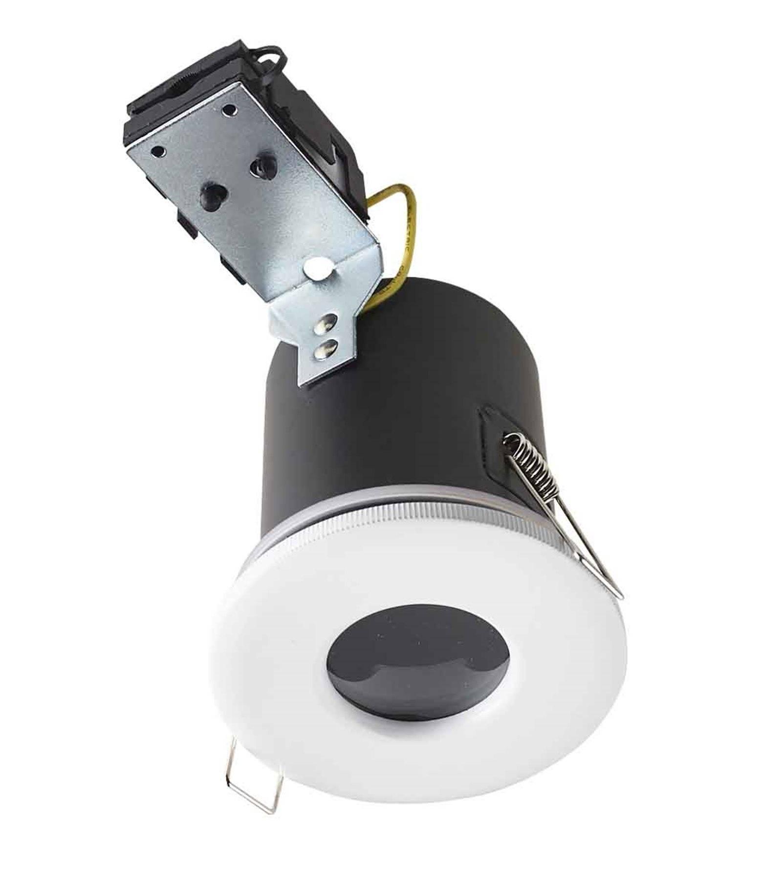 Spot faux plafond isol et cache moineaux blanc bastia gu10 ip65 ext rieur hipow etanche salle - Spot salle de bain etanche ip65 ...