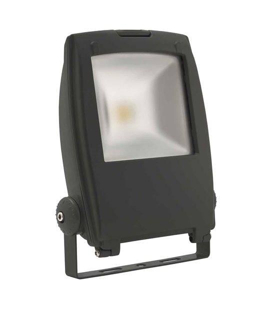 Projecteur noir RINDO MCOB 50W LED integrés IP65 Blanc neutre extérieur KANLUX - PROJECTEUR MURAL - siageo-led.com