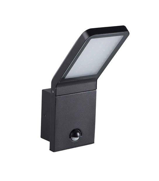 Applique Murale avec Détecteur de Mouvement noir SEVIA 9.5W LED integrés IP44 Blanc neutre éxterieur KANLUX - APPLIQUE MURALE - siageo-led.com