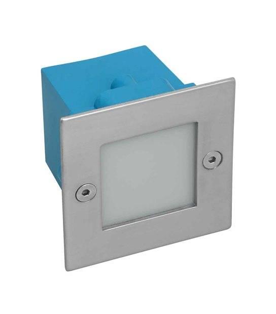 Applique encastrable Carrée TAXI 1.5W LED integrés IP54 Blanc Chaud éxterieur KANLUX - APPLIQUE MURALE - siageo-led.com