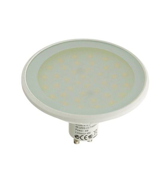 Ampoule LED GU10 MR30 Dimmable SMD 6W 560Lm (équiv 40W) Blanc Froid EASY CONNECT - GU10 - siageo-led.com