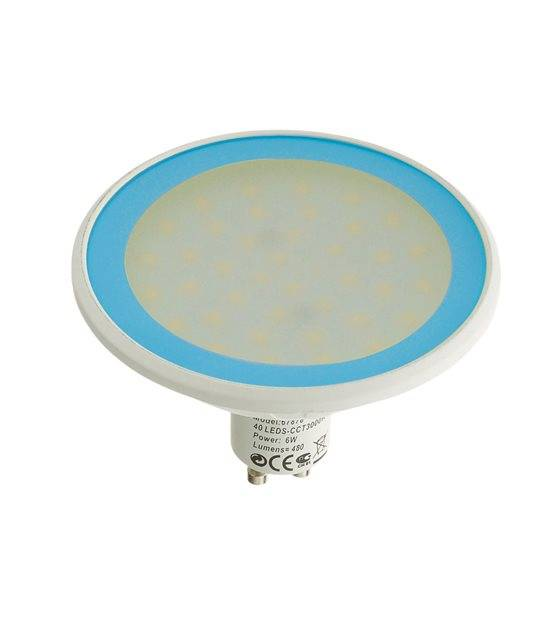 Ampoule LED GU10 MR30 Dimmable SMD 8W 560Lm (équiv 40W) Bleu EASY CONNECT - GU10 - siageo-led.com