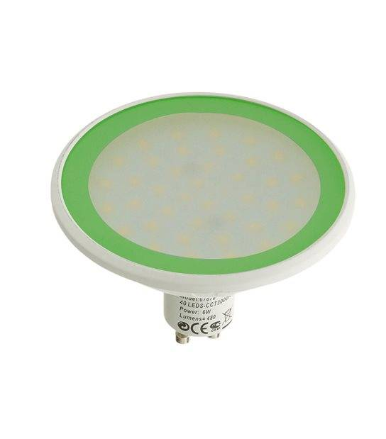 Ampoule LED GU10 MR30 Dimmable SMD 8W 560Lm (équiv 40W) Vert EASY CONNECT - AMPOULE GU10 - siageo-led.com