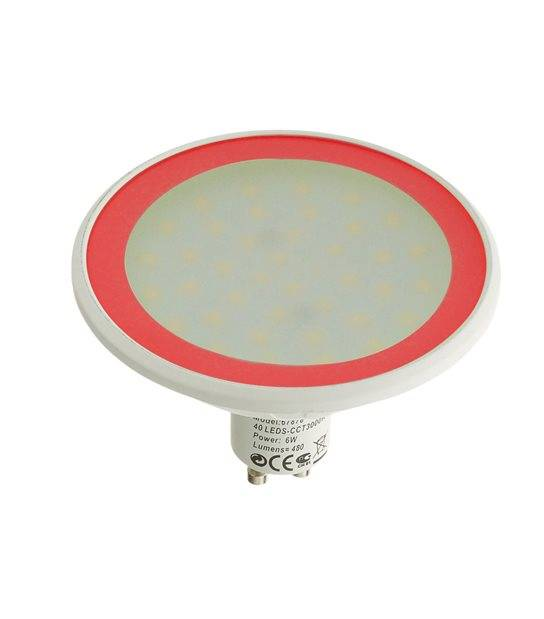 Ampoule LED GU10 MR30 Dimmable SMD 8W 560Lm (équiv 40W) Rouge EASY CONNECT - GU10 - siageo-led.com