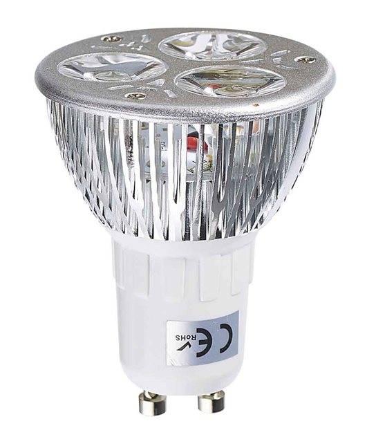 Ampoule LED GU10 TriLED 3x2W 6W 320-370Lm Blanc Chaud 60° EDISON - CYBER WEEK - siageo-led.com