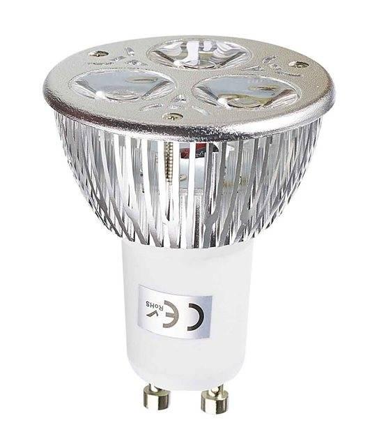Ampoule LED GU10 Tri-Led 3x1W 3W 240-280Lm Blanc Neutre 60° EPISTAR - 1171 - CYBER WEEK - siageo-led.com