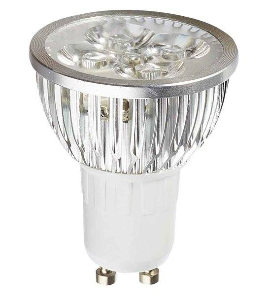 DESTOCKAGE Ampoule LED GU10 à 4x1W PowerLeds 4W 350-400Lm Blanc Froid 38° IP20 HIPOW - GU10 - siageo-led.com
