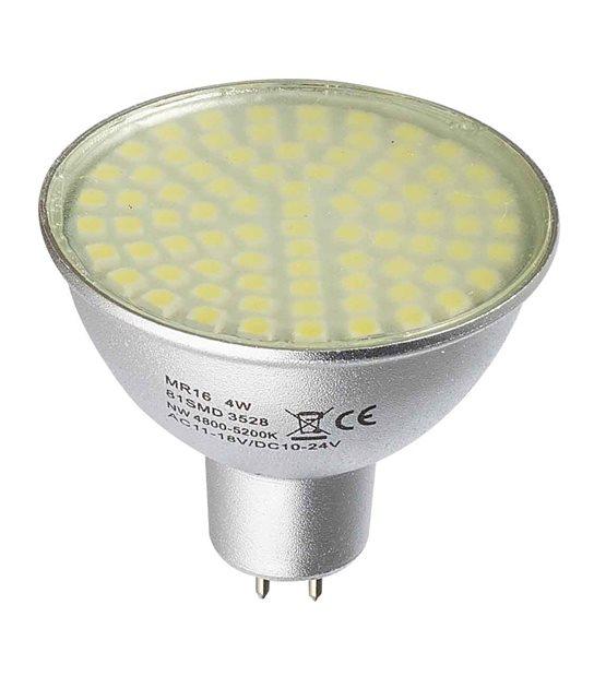 STOP-DESTOCKAGE Ampoule LED GU5.3 MR16 à 81 SMD 5W 350Lm Blanc Chaud 120° 12V HIPOW - GU5.3 - siageo-led.com
