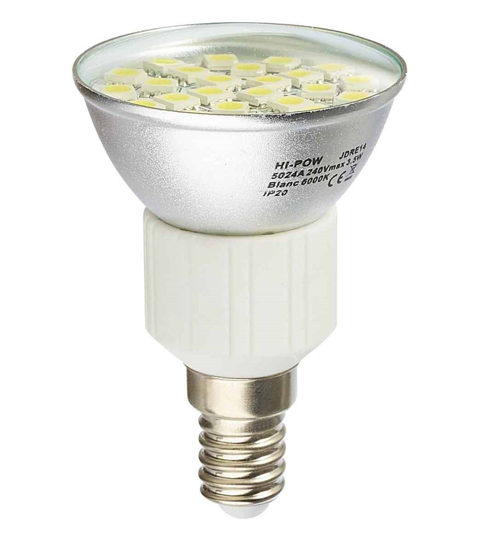 ampoule led e14 dimmable 24 smd5024 3 5w 310lm quiv 31w blanc froid 120 hipow ampoule. Black Bedroom Furniture Sets. Home Design Ideas