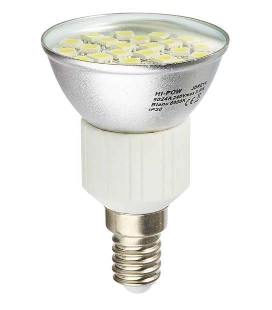 Ampoule LED E14 Dimmable à 24 SMD5024 3.5W 310Lm (équiv 31W) Blanc Chaud 120° HIPOW - CYBER WEEK - siageo-led.com