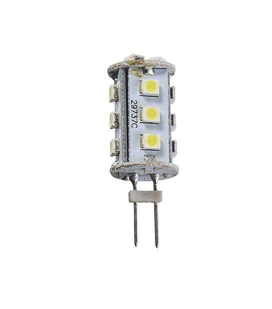 Ampoule LED G4 à 15SMD 2W 120Lm (équiv 13W) Blanc Chaud 360° 12V HIPOW - G4 - siageo-led.com