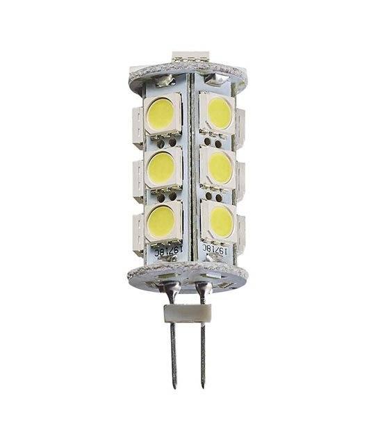 Ampoule LED G4 à 18SMD5050 3.5W 290Lm (équiv 25W) Blanc Froid 360° 12V HIPOW - AMPOULE G4 - siageo-led.com