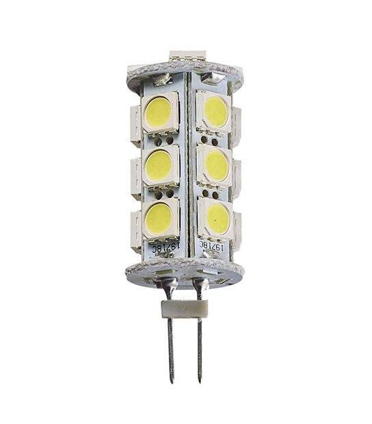 Ampoule LED G4 à 18SMD5050 3.5W 290Lm (équiv 15W) Blanc Chaud 360° 12V HIPOW - CYBER WEEK - siageo-led.com