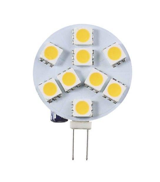 Ampoule LED G4 à 9 SMD 1.9W (équiv 15W) Blanc Chaud 360° 12V HIPOW - G4 - siageo-led.com
