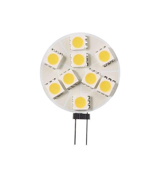 Ampoule LED G4 Plat à 9 SMD5050 1.9W (équiv 20W) Blanc Chaud 150° 12V HIPOW - G4 - siageo-led.com