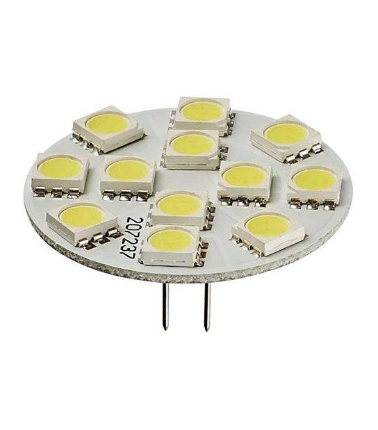 Ampoule LED G4 backpin Plat à 12 SMD5050 2W 170Lm (équiv 25W) Blanc neutre 150° 12V HIPOW - AMPOULE G4 - siageo-led.com