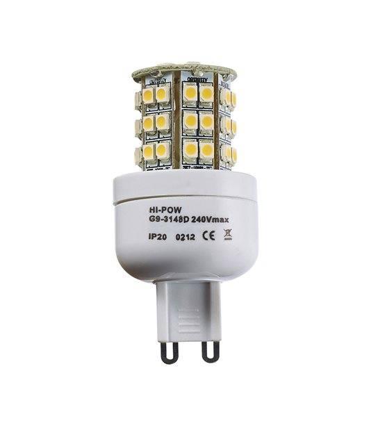 Ampoule LED G9 à 48SMD5050 3W 250-320Lm Blanc Froid 360° HIPOW - AMPOULE G9 - siageo-led.com