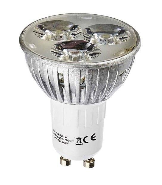 Ampoule LED GU10 3x1W 3W Blanc Chaud HIPOW - GU10 - siageo-led.com