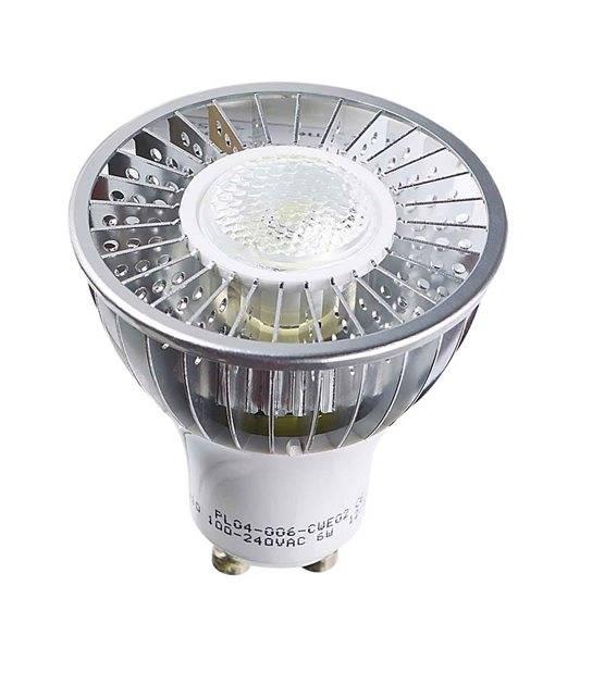 Ampoule LED GU10 Haute puissance 6W (équiv 50W) Blanc Froid 45° HIPOW - GU10 - siageo-led.com