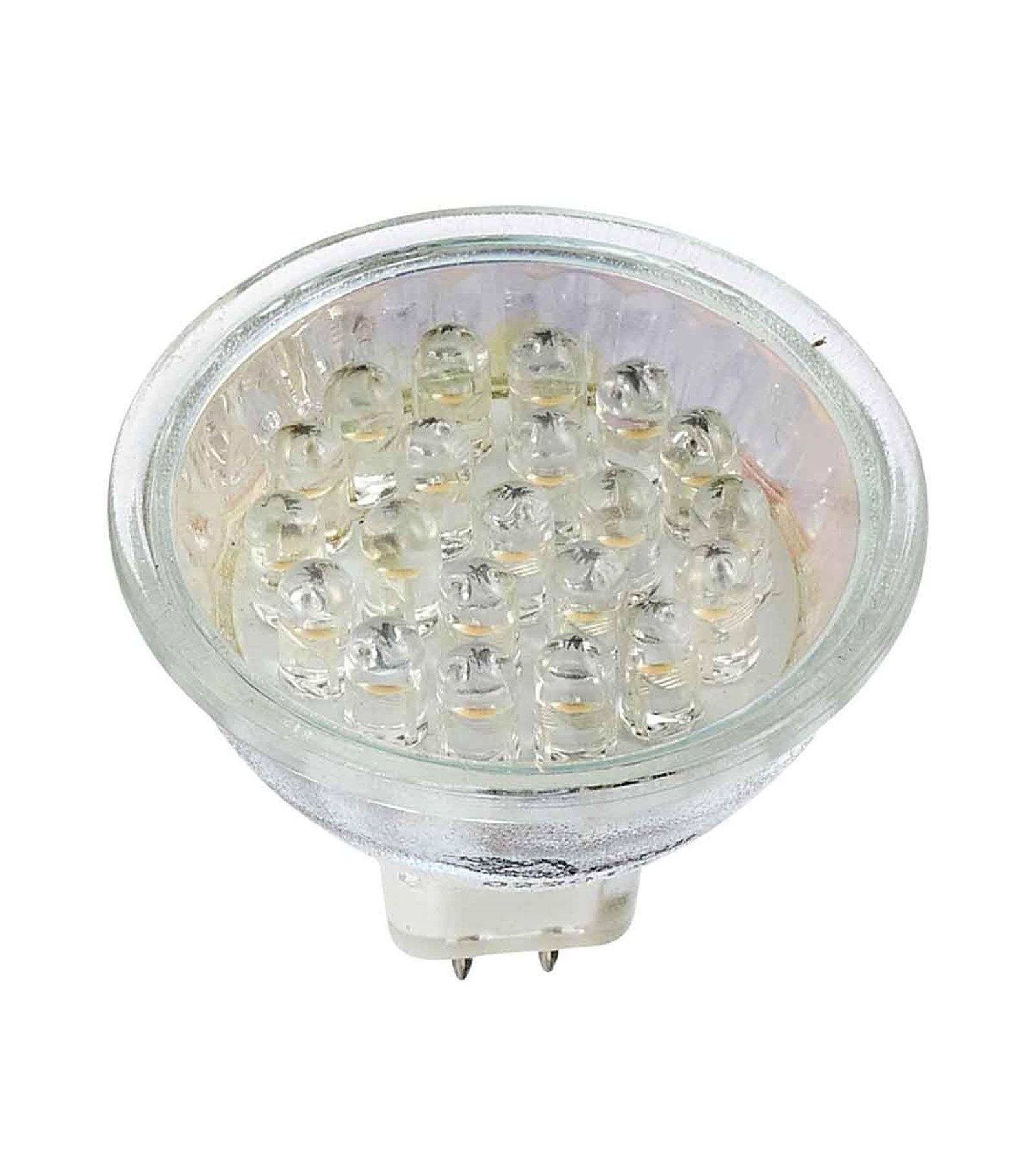 Nouvel Ampoule LED GU5.3 MR16 à 21 LEDs 1.3W 80Lm (équiv 9W) Blanc Froid 12V JX-21