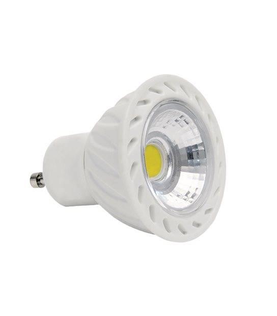 Ampoule LED GU10 Dimmable COB 7W 500Lm (équiv 42W) Blanc Chaud KANLUX - GU10 - siageo-led.com