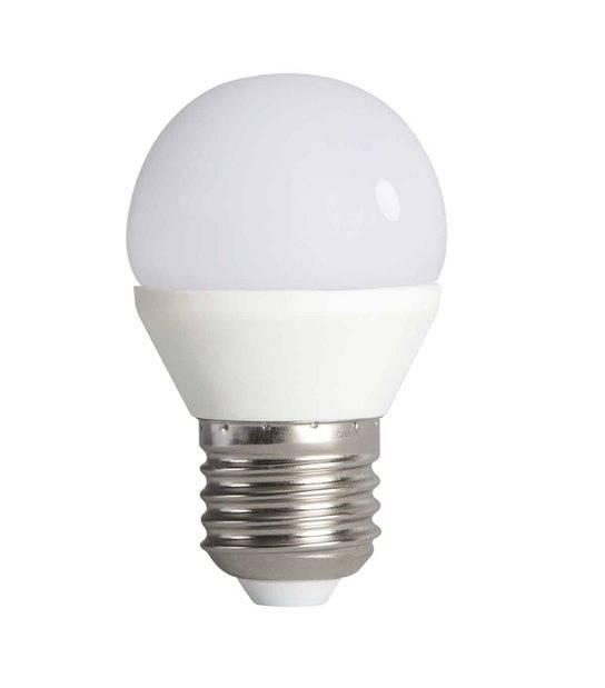Ampoule LED E27 G45 à 15 SMD 2835 BILO 6.5W 600Lm (équiv 48W) Blanc Chaud 200° KANLUX - E27 - siageo-led.com