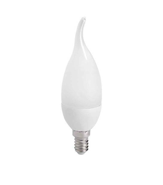 Ampoule LED E14 Flamme SMD IDO 6.5W 600Lm (équiv 48W) Blanc Chaud 210° KANLUX - E14 - siageo-led.com