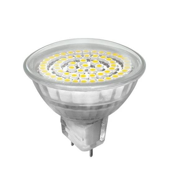Ampoule LED GU5.3 MR16 Réflecteur à 60 SMD 3.3W 260Lm (équiv 26W) Blanc Froid 120° 12V KANLUX - GU5.3 - siageo-led.com
