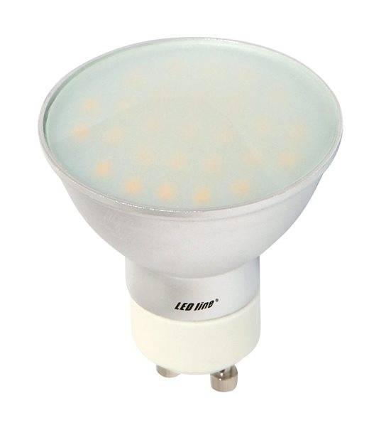 Ampoule LED GU10 à 27 SMD5630 CCD Converter 5W 350Lm (équiv 35W) Blanc Chaud 120° LEDIN - GU10 - siageo-led.com