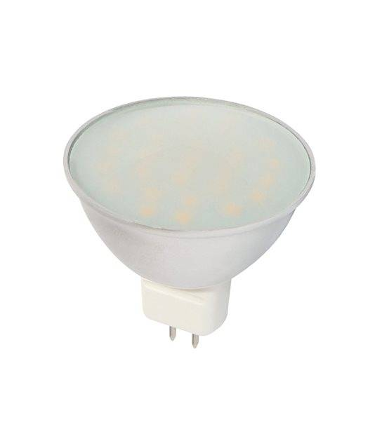 Ampoule LED GU5.3 à 27 SMD5630 CCD Converter 4.5W 330Lm (équiv 30W) Blanc Chaud 120° 12V LEDIN - GU5.3 - siageo-led.com
