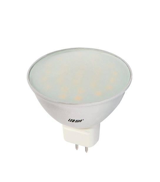 Ampoule LED GU5.3 à 27 SMD5630 CCD Converter 4.5W 330Lm (équiv 30W) Blanc Froid 120° 12V LEDIN - GU5.3 - siageo-led.com