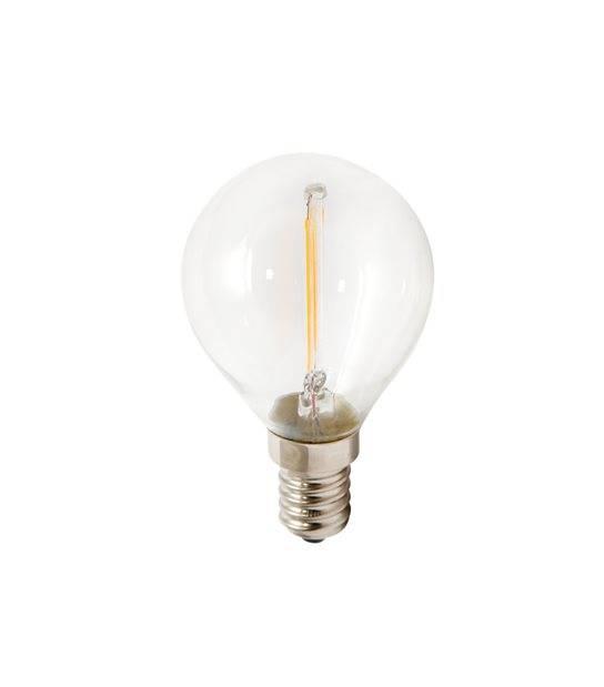 Ampoule LED E14 Globe Filament COG 2W 260Lm Blanc Chaud LED Line - FILAMENT - siageo-led.com
