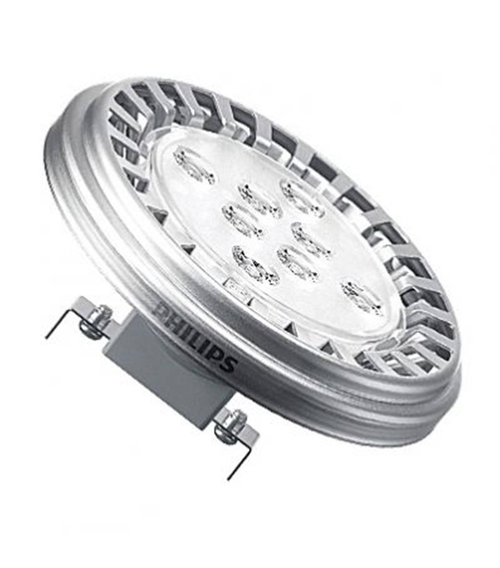 ampoule led g53 master ledspot ar111 10w 610lm quiv 50w blanc chaud 24 12v philips 12v. Black Bedroom Furniture Sets. Home Design Ideas