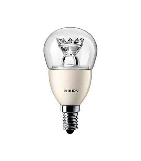 Ampoule LED E14 Globe Dimmable MASTER LEDlustre D 6W 470Lm (équiv 40W) Blanc Chaud PHILIPS - E14 - siageo-led.com