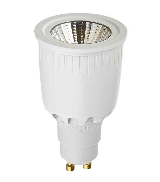 DESTOCKAGE Ampoule LED GU10 COB 8W 550Lm (équiv 50W) Blanc neutre 38° SHARP - GU10 - siageo-led.com