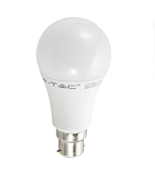Ampoule LED B22 A60 SMD 12W 1055Lm (équiv 75W) Blanc neutre 200° V-TAC - B22 - siageo-led.com
