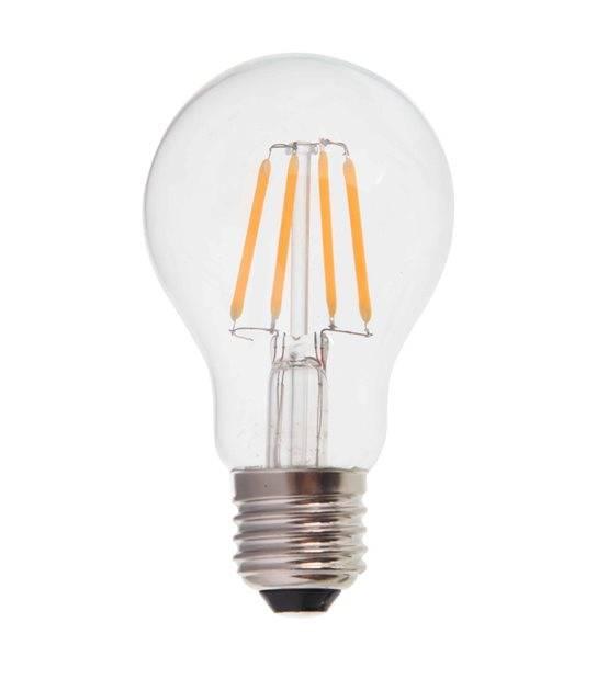 Ampoule LED E27 A60 Filament COG 6W 550Lm (équiv 60W) Blanc Chaud 300° IP20 V-TAC - FILAMENT - siageo-led.com
