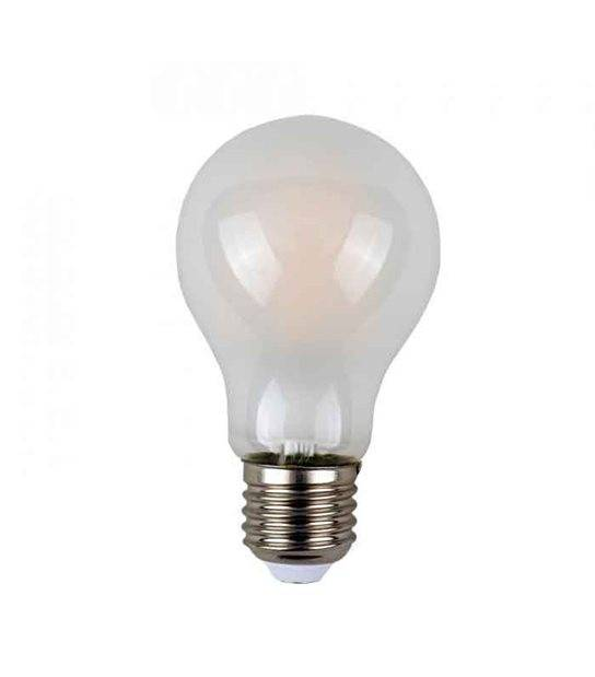 Ampoule LED E27 A60 Filament COG 8W 800Lm (équiv 60W) Blanc Chaud 300° IP20 V-TAC - FILAMENT - siageo-led.com