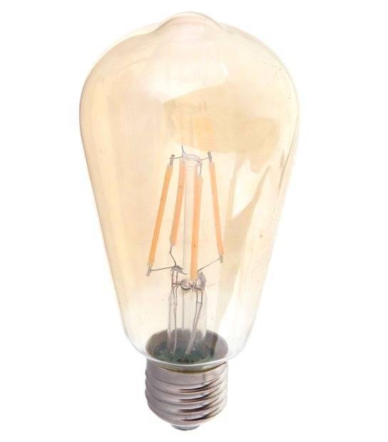 Ampoule LED E27 ST64 Filament COG 6W 500Lm (équiv 60W) Blanc très chaud 300° IP20 V-TAC - FILAMENT - siageo-led.com