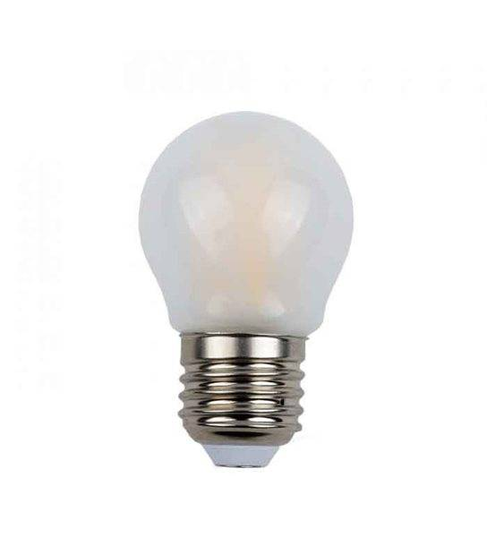 Ampoule LED E27 G45 Filament COG 4W 400Lm (équiv 40W) Blanc Chaud 300° IP20 V-TAC - FILAMENT - siageo-led.com