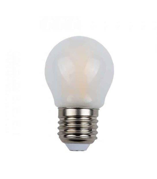 Ampoule LED E27 G45 Filament COG 4W 400Lm (équiv 40W) Blanc neutre 300° IP20 V-TAC - 1974 - FILAMENT - siageo-led.com