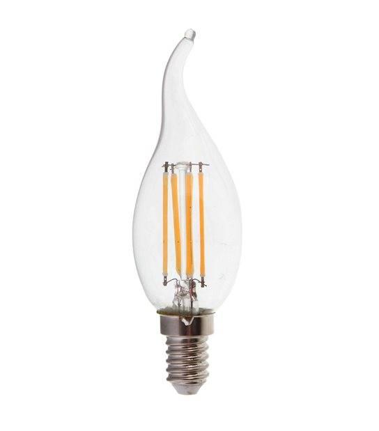 Ampoule LED E14 Flamme Filament COG 4W 400Lm (équiv 40W) Blanc Chaud 300° IP20 V-TAC - FILAMENT - siageo-led.com