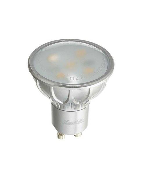 Ampoule LED GU10 SMD 2.8W 180Lm (équiv 20W) Blanc Chaud 100° XANLITE - GU10 - siageo-led.com