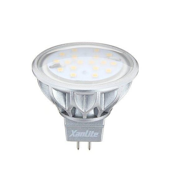 Ampoule LED GU5.3 MR16 SMD 3.8W 60Lm (équiv 50W) Blanc Chaud 100° 12V XANLITE - AMPOULE GU5.3 - siageo-led.com