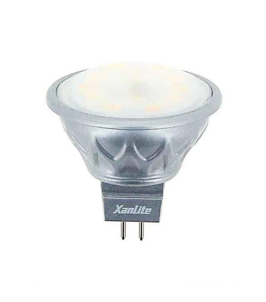 Ampoule LED GU5.3 MR16 SMD 5.5W 320Lm (équiv 25W) Blanc Chaud 100° 12V XANLITE - GU5.3 - siageo-led.com