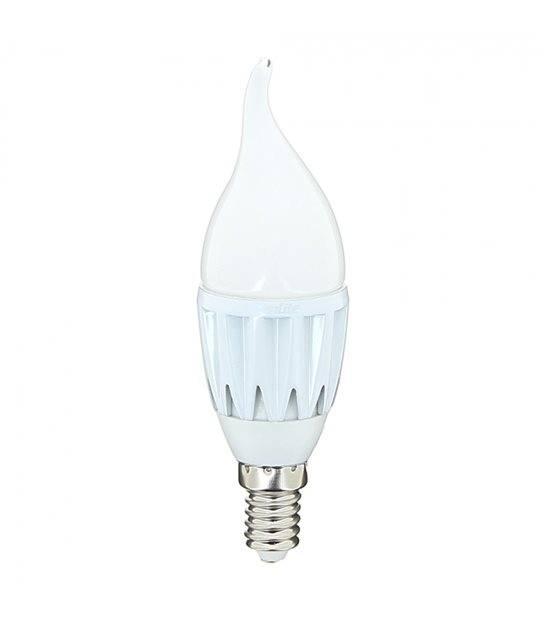 DESTOCKAGE Ampoule LED E14 Flamme SMD 4.6W 323Lm (équiv 30W) Blanc Chaud 110° XANLITE - AMPOULE E14 - siageo-led.com
